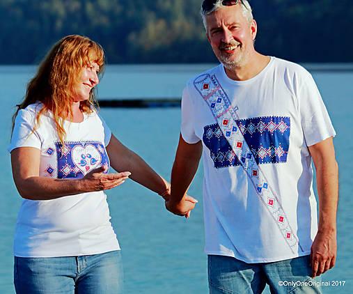 Dámske a pánske tričká, párové, maľované, folk SPIEVANKY