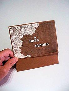 Papiernictvo - svadobný obal na CD/DVD - 8757945_