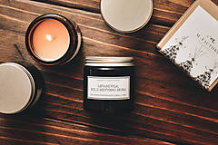 Svietidlá a sviečky - Amber -  Levanduľa, Soľ z Mŕtveho mora 100% prírodná - 8756231_