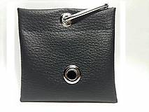 Pre zvieratká - Zásobník na WC vrecká čierna koženka - 8756826_