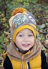 Detské čiapky - Jedinečný setík s pandou - 8756195_