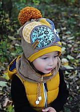 Detské čiapky - Jedinečný setík s pandou - 8756196_