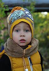 Detské čiapky - Jedinečný setík s pandou - 8756197_