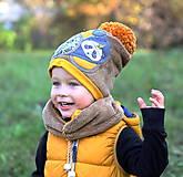 Detské čiapky - Jedinečný setík s pandou - 8756198_