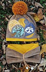 Detské čiapky - Jedinečný setík s pandou - 8756200_