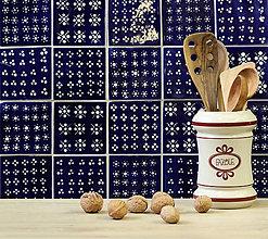 Dekorácie - Keramické obkladačky modrotlač - 8759530_