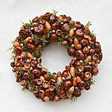 - Venček na dvere z prírodných plodov  - 8760593_