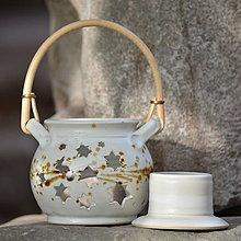 Nádoby - Aromalampa Hvězdokupa kulatá - Vůně kávy - 8757280_