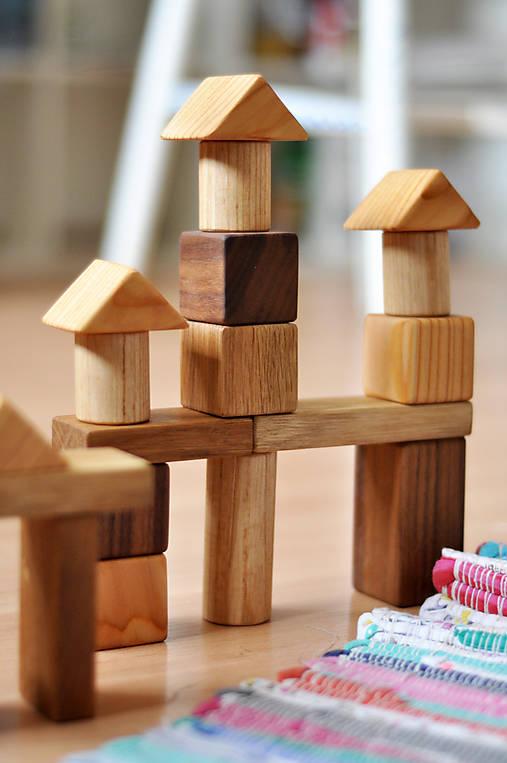 Hračky - Drevená stavebnica pre deti - 8757511_