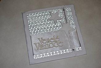 Papiernictvo - Veselé Vianoce - strieborné - 8757470_