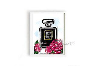 Obrazy - CHANEL PARFUME framed print - 8756724_