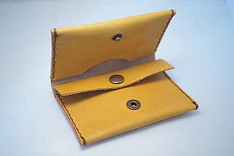 Peňaženky - Kožená peňaženka Slim - různé barvy (Žltá) - 8756012_