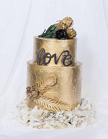 Krabičky - dekoračný box / svadobná torta Pierko - 8758663_