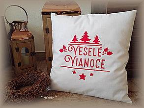 Úžitkový textil - Vianočná obliečka Veselé Vianoce - 8760159_