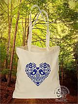 Nákupné tašky - Plátená Ekologická nákupná taška 002 (Červená) - 8759998_