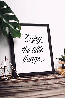 Obrazy - Enjoy the little things - black - 8759094_