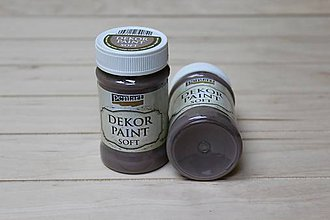 Farby-laky - Decor Paint Soft 100ml - vintage hnedá - 8757020_