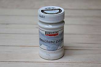 Farby-laky - PENTART Štruktúrovacia pasta biela 100 ml - 8757049_