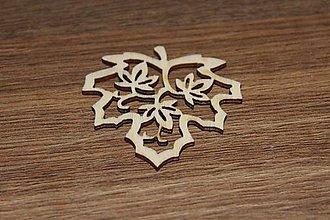 Polotovary - drevený výrez list - 8757128_