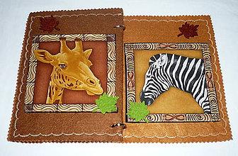 Hračky - Quiet book - mini - safari - 8757223_