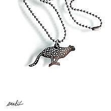 Náhrdelníky - Náhrdelník Gepard z nerezu - 8756260_