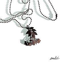 Náhrdelníky - Náhrdelník Květ bezu z nerezu - 8756564_