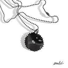 Náhrdelníky - Náhrdelník Ryba fugu z nerezu - 8756905_