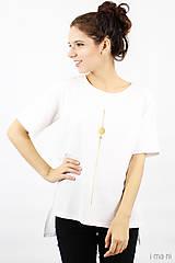 Tričká - Dámske tričko biele IO10 - 8757395_