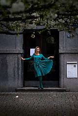 Šaty - Úpletové šaty BREA, tmavší mentolové, vel 36/38 - 8761609_