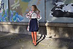 Sukne - Zavinovací sukně ANJA, indigo modrá - 8765009_