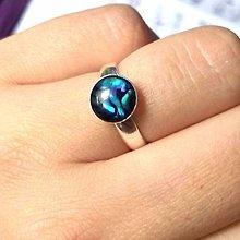 Prstene - Mini Elegant Paua Ring Silver Ag 925 / Strieborný prsteň s paua perleťou /0455 - 8762774_