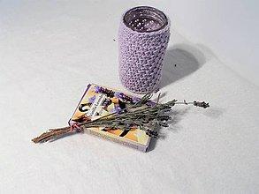Svietidlá a sviečky - Svietnik s farbou levandule - 8762241_