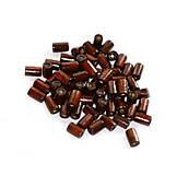 Korálky - Tmavohnedé drevené valčeky 8x4mm - 8765389_