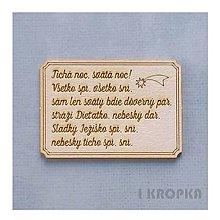 Polotovary - Výrez slovenský - Tichá noc, svätá noc! Všetko spí, všetko sní - 8761857_