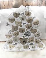 Dekorácie - Vintage adventný kalendár - 8763951_