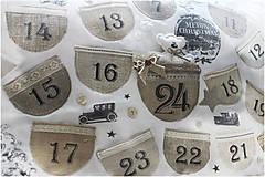 Dekorácie - Vintage adventný kalendár - 8764067_