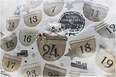 Dekorácie - Vintage adventný kalendár - 8764070_