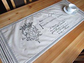 Úžitkový textil - Štóla na stôl Foglio concado asoglio krémová - 8763113_