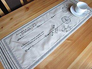 Úžitkový textil - Málá krémová štóla na stôl Foglio concado asoglio - 8763151_