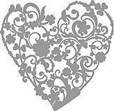 Pomôcky/Nástroje - Šablóna Srdce z kvetov - 8761344_