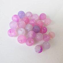 Minerály - Ohnivý achát 6mm (Violet Pink Tint) - 8764663_