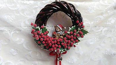 Dekorácie - Veniec vianočný na zavesenie - 8761412_