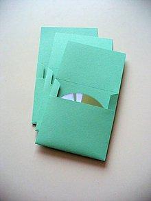 Papiernictvo - jednoduchý CD obal/ mint - 8761958_