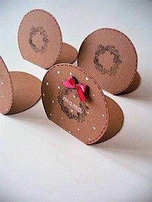 Papiernictvo - vianočné menovky - 8763170_