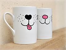 Nádoby - Maľovaný hrnček - Psíček a mačička - 8763104_