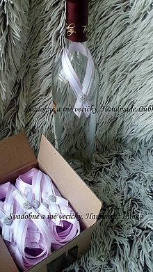Darčeky pre svadobčanov - Stužky na fľaše - 8762177_