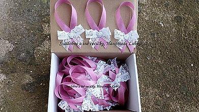 Darčeky pre svadobčanov - Stužky na fľaše - 8762230_