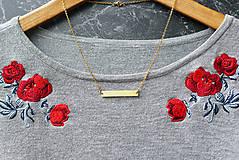 Náhrdelníky - Náhrdelník s obdĺžnikom (mosadz + oceľ) - 8763347_