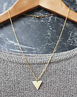 Náhrdelníky - Náhrdelník s trojuholníkom (mosadz + oceľ) - 8763556_