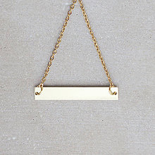 Náhrdelníky - Náhrdelník s obdĺžnikom (mosadz + oceľ) - 8763342_